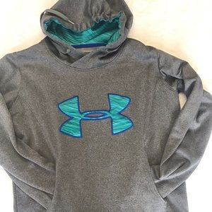 boys under armour semi fitted hoodie